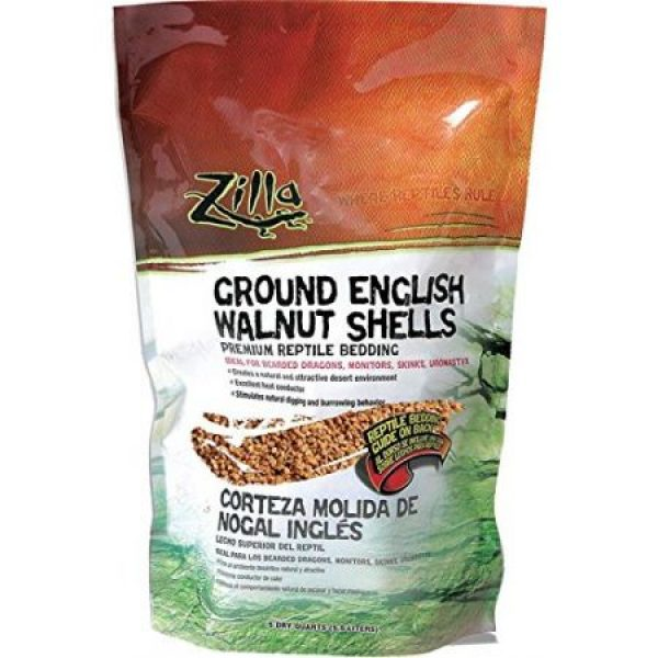 ZILLA DESERT REPTILE BLEND BEDDING – GROUND ENGLISH WALNUT SHELLS