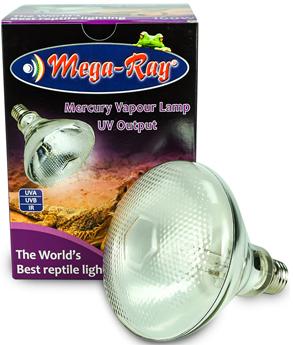 MegaRay Mercury Vapor UVB Bulb Lamp